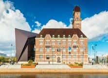 Malmö, Suecia: Vista de la universidad marítima del mundo en la ciudad de Malmö imagen de archivo