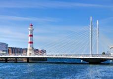 在Malmö的灯塔,瑞典 免版税库存照片
