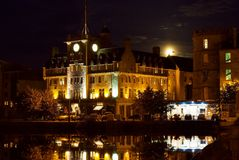 Malmaison Moon Leith Stock Image