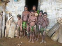 Malmal tribe people in Vanuatu. Malmal tribe people in the isolated village of Tanmet in Santo island, Vanuatu Royalty Free Stock Image