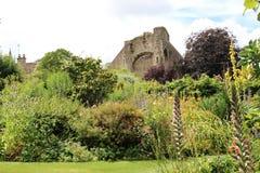 Malmesbury Abbey Ruins Seen From abbey House Gardens, UK