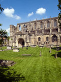 Malmesbury Abbey in spring sunshine, Wiltshire, UK. Picturesque Malmesbury Abbey in spring sunshine, Wiltshire, UK Stock Image