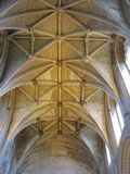 Malmesbury Abbey vaulted ceiling in Wiltshire, England, Europe Stock Images