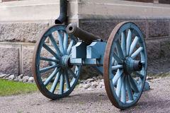 Malmgard, Finland. Gun at the Manor House. At summer Stock Photo