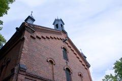 Malmgard, Finland. Red brick building. Malmgard, Finland. Old red brick building Royalty Free Stock Photography