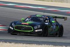 12 malmHankook Mugello 18 mars 2017: #38 ms Racing, Mercedes AMG GT3 Royaltyfria Bilder