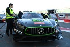 12 malmHankook Mugello 18 mars 2017: #38 ms Racing, Mercedes AMG GT3 Royaltyfria Foton