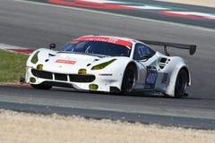 12 malmHankook Mugello 18 mars 2017: #488 oktan 126, Ferrari 488 GT3: Bjorn Grossmann Fabio Leimer på den Mugello strömkretsen Arkivfoton