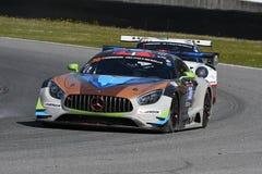 12 malmHankook Mugello 18 mars 2017: #30 Ram Racing, Mercedes AMG GT3 Royaltyfri Foto