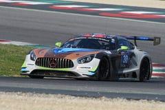 12 malmHankook Mugello 18 mars 2017: #30 Ram Racing, Mercedes AMG GT3 Fotografering för Bildbyråer