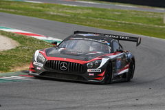 12 malmHankook Mugello 18 mars 2017: SPORT RACING, Mercedes AMG GT3 för #17 IDEC Royaltyfri Bild