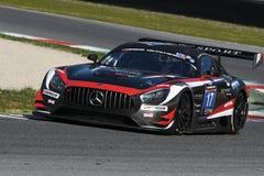 12 malmHankook Mugello 18 mars 2017: SPORT RACING, Mercedes AMG GT3 för #17 IDEC Arkivfoton