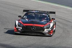 12 malmHankook Mugello 18 mars 2017: SPORT RACING, Mercedes AMG GT3 för #17 IDEC Arkivbilder