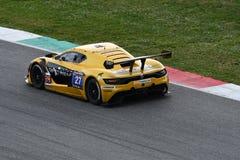 12 malmHankook Mugello 18 mars 2017: Ytterlighet för GP #27, Renault RS01 GT3 Royaltyfri Foto