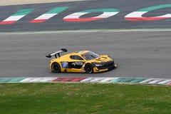 12 malmHankook Mugello 18 mars 2017: Ytterlighet för GP #27, Renault RS01 GT3 Arkivfoton