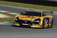 12 malmHankook Mugello 18 mars 2017: Ytterlighet för GP #27, Renault RS01 GT3 Royaltyfria Foton