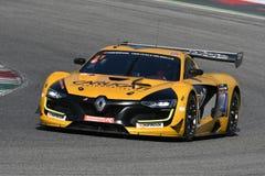 12 malmHankook Mugello 18 mars 2017: Ytterlighet för GP #27, Renault RS01 GT3 Arkivbilder