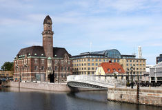Malmo. Is the old Swedish town in Scania County and Oresund region Royalty Free Stock Image