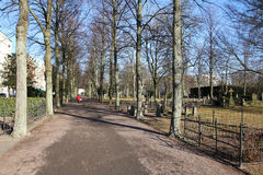 Malmo. Sweden - park and cemetery area. City in Scania county (Skane in Swedish) and Oresund region Stock Image