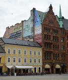 Malmo Old town. Malmo architecture in the on Stortorget, Gamla Staden. Large Square in the old town Stock Photo