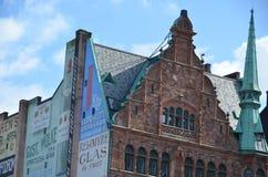 Malmo buildings. A historic brick building in Malmo Sweden Stock Photos