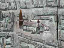 Malmo castle bronze statuette. Photography of the Malmo castle bronze statuette. The photography has been taken in 2018 in Malmo, Sweden Royalty Free Stock Image