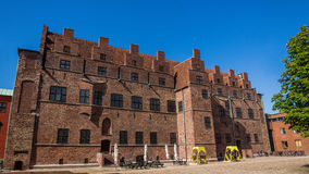 Malmo Castle ( Malmöhus). Malmo Castle (Malmohus), old fortress founded in 1434 by King Eric of Pomerania, demolished and rebuilt in early 16th century, main Stock Image