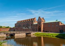 Malmo Castle and moat. Malmo Sweden - May 16. 2014: Malmo Castle and moat Stock Photo