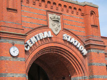 Malmo central station. The central train station of Malmö, a city in the south of Sweden Royalty Free Stock Photos