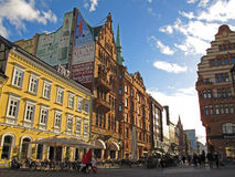 Malmo city, Sweden. Stortorget, one of the main squares in Malmo, Sweden Stock Image