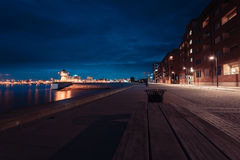 Malmo city urban landscape at night, Sweden. Europe Stock Photo