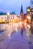 Malmo Cityscape Sweden. Malmo Cityscape downtown at night twilight in Sweden Stock Image