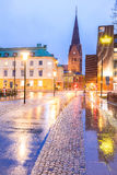 Malmo Cityscape Sweden. Malmo Cityscape downtown at night twilight in Sweden Royalty Free Stock Photography