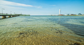 Malmo dennego wybrzeża panorama Zdjęcie Stock