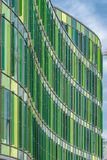 Malmo Glasvasen Modern Architecture. MALMO, SWEDEN - May 18, 2018: The new block, the Glass Vase, in south harbor of Malmo, close to the city. The designer sees Stock Photo