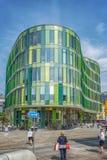 Malmo Glasvasen modern byggnad Fotografering för Bildbyråer