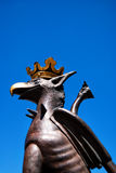 Malmo griffen 01. An image of a griffen statue situated in one of Malmo's main squares in Sweden Stock Image