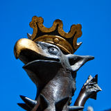 Malmo griffen 02. An image of a griffen statue situated in one of Malmo's main squares in Sweden Stock Photography