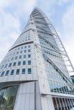 MALMO - JUNUARY 1: Grattacielo del torso di tornitura su Junuary 1, 2014 a Malmo, la Svezia Progettato da Santiago Calatrava Fotografia Stock Libera da Diritti