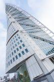 MALMO - JUNUARY 1: Grattacielo del torso di tornitura su Junuary 1, 2014 a Malmo, la Svezia Progettato da Santiago Calatrava Immagine Stock Libera da Diritti
