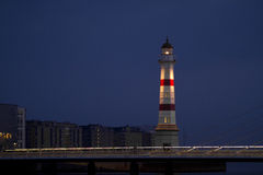 Malmo lighthouse. Malmo, Sweden in the early dawn Stock Photo