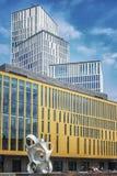 Malmo Live Building Blocks med skulptur Royaltyfri Bild