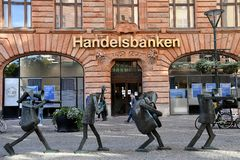 SWEDISH HANDELSBANKEN. Malmo/Malmoe/MalM�/Sweden 04 September 2018_ .Swedish Handelsbanken in Malm� Sweden. Photo.Francis Joseph Dean / Deanpictures Stock Photography