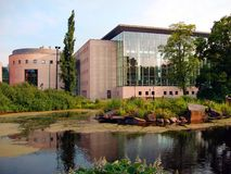 Malmo Modern Building - Sweden. The modern public library of Malmo - Sweden Stock Image