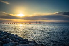 Free Malmo - October 22, 2017: Panorama Of The Oresund Bridge From The Side Of Malmo, Sweden Stock Photography - 155455322