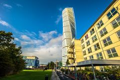 Malmo - October 22, 2017: The modern Turning Torso building in M. Almo, Sweden Royalty Free Stock Images