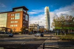 Malmo - October 22, 2017: The modern Turning Torso building in M. Almo, Sweden Stock Images