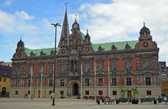Malmo Old City Hall. On Stortorget, Gamla Staden. Large Square in the old town Stock Photography