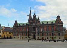 Malmo Old City Hall. On Stortorget, Gamla Staden. Large Square in the old town Royalty Free Stock Image
