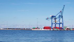 Malmo Sea Port stock footage